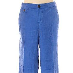Anthropologie Level 99 Wide Leg Linen Trouser Pant